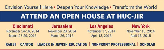Attend an open house at HUC-JIR