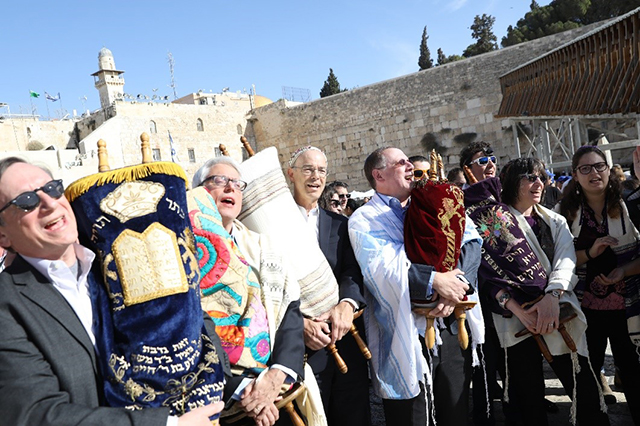 North American Reform leaders at the Kotel