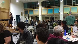 Rabbi Yael Karrie speaking at the Freedom Seder on Saturday, March 31, 2018 at Kol Haneshama