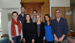 Jane Weitzman (second from left) and Weitzman-JDC Fellows in Jerusalem