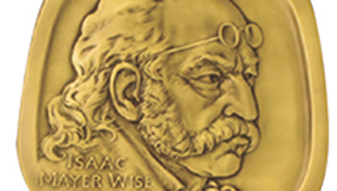 Isaac Mayer Wise medal from the Skirball Museum in Cincinnati