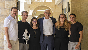 1. Dr. Andrew Rehfeld with students in Jerusalem