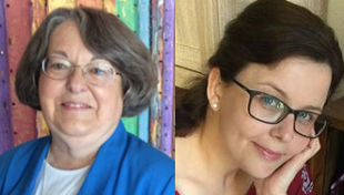 Headshots of Rabbi Sally J. Preisand and Rabbi Sonja K. Pilz
