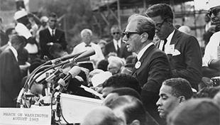 Rabbi Joachim Prinz addressing the 1963 March on Washington for Jobs and Freedom