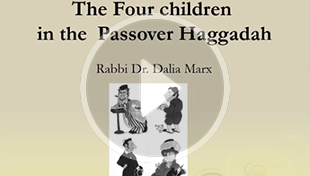 Graphic of Four Children from Rabbi Dalia Marx's Zoom presentation